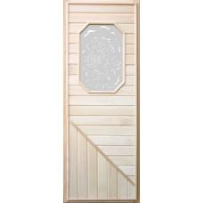 DoorWood Дверь липа 8-ми угольное стекло