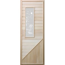 DoorWood Дверь липа прямоугольное стекло