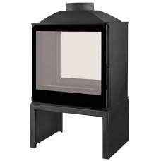 LISEO CASTIRON LCI 5 GDF BG Stove, двусторонняя, черное стекло